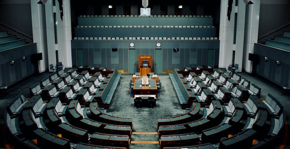 The house of representatives in Canberra